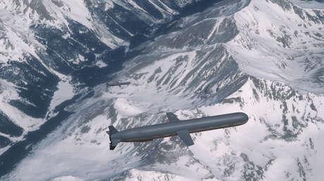 Dos misiles de crucero Tomahawk estadounidenses.