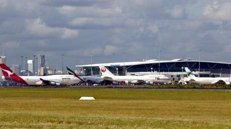 La terminal internacional del aeropuerto de la ciudad australiana de Brisbane.