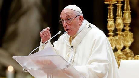 El Papa Francisco celebrando una misa durante la vigésimotercera Jornada Mundial de la Vida Consagrada en la Basílica de San Pedro (Vaticano). 2 de febrero, 2019.