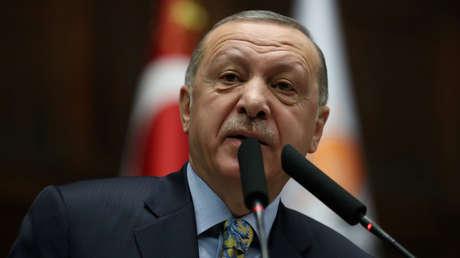 El presidente turco,Recep Tayyip Erdogan,Ankara,Turquía, el 15 de enero de 2019