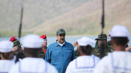 El presidente venezolano, Nicolás Maduro, en un ejercicio militar en Turiamo, Venezuela, el 3 de febrero de 2019.