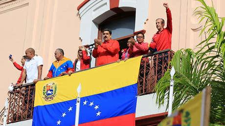 El presidente venezolano, Nicolás Maduro, durante un mitin en Caracas (Venezuela), el 23 de enero de 2019.