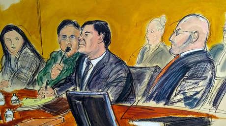 Joaquin 'Chapo' Guzmán, durante su juicio en Nueva York, EE.UU., el 30 de enero, 2019.