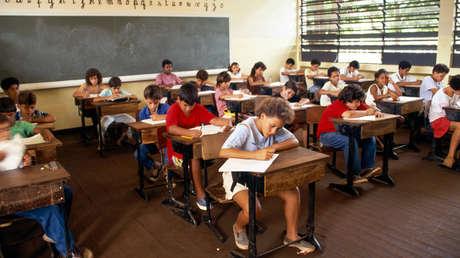 Niños en una escuela brasileña.
