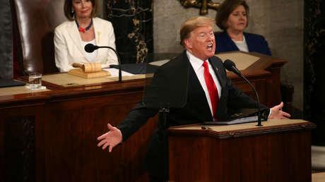 Donald Trump en el Congreso, el 5 de febrero de 2019.