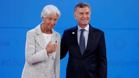 La directora del FMI, Christine Lagarde, y el presidente Mauricio Macri durante el G20, Buenos Aires, Argentina, 30 de noviembre de 2018.