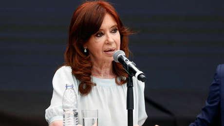 La expresidenta argentina Cristina Fernández de Kirchner en Buenos Aires, Argentina, 19 de noviembre de 2018.