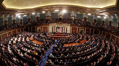 El presidente de EE.UU., Donald Trump, pronuncia su discurso del Estado de la Unión en el Capitolio, Washington.