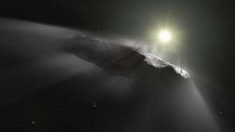 Oumuamua, el primer asteroide interestelar captado en el Sistema Solar.