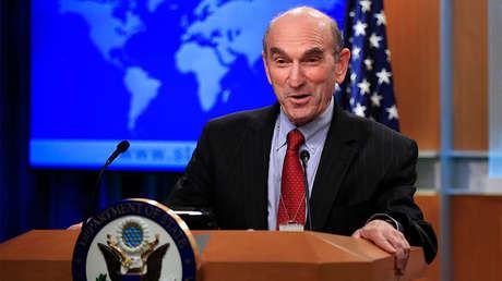 Elliott Abrams durante una rueda de prensa en el Departamento de Estado de EE.UU., el 25 de enero de 2019.