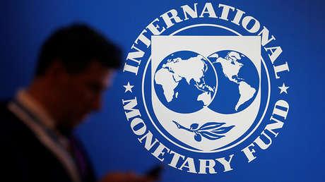 Logotipo del Fondo Monetario Internacional (FMI).