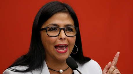 Delcy Rodríguez en Caracas, el 8 de febrero de 2019.