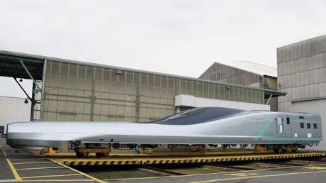 El primer vagón de 'ALFA-X', Kudamatsu (Japón), 8 de febrero de 2019.