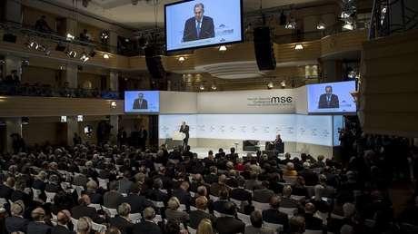 El ministro de Asuntos Exteriores ruso, Serguéi Lavrov, durante la Conferencia de Seguridad de Múnich, Alemania, el 17 de febrero de 2018
