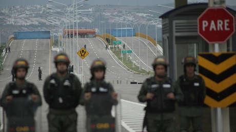 El puente transfronterizo Las Tienditas entre Colombia y Venezuela, Tienditas, Venezuela, el 8 de febrero de 2019