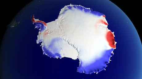 Precipitaciones de nieve en la Antártida durante el siglo XX.