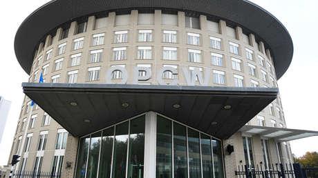 Edificio de la Organización para la Prohibición de las Armas Químicas (OPAQ) en La Haya, Países Bajos.