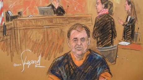 'El Chapo' Guzmán durante una audiencia en una corte en Nueva York, EE. UU., 3 de febrero de 2017.