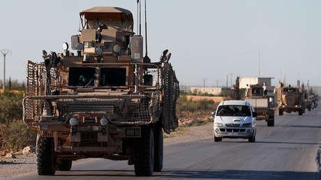 Convoy de coalición de los Estados Unidos al norte de Siria. 31 de marzo de 2018.