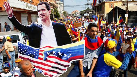 Manifestación de partidarios de la oposición venezolana en Maracaibo, 12 de febrero de 2019.