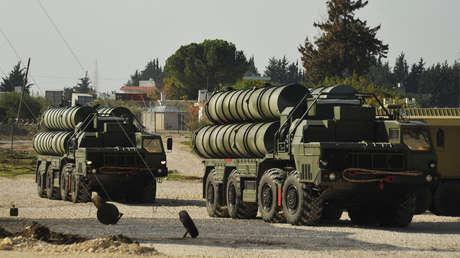Sistemas de misiles S-400, Base Aérea de Jmeimim, Siria.