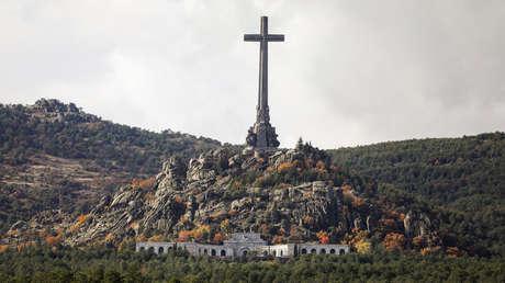 Imagen general de El Valle de los Caídos, a las afueras de Madrid, España.