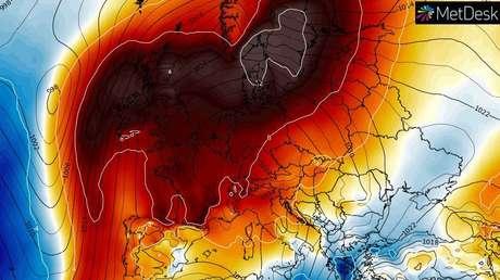 El gran anticiclón sobre Europa.