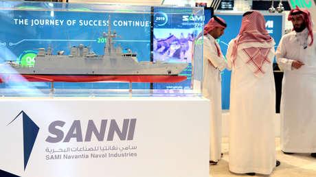 Saudi Arabian Military Industries (SAMI) en la Feria de Defensa Internacional IDEX, Abu Dabi, 17 febrero 2019.