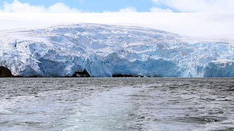 El glaciar Collins, en la Antártida.