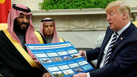 El príncipe heredero de Arabia Saudita, Mohamed bin Salmán, y el presidente de EE.UU., Donald Trump. Washington 20 de marzo de 2018.
