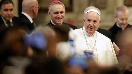 El papa Francisco en la basílica de San Pedro del Vaticano, 20 de febrero de 2019.