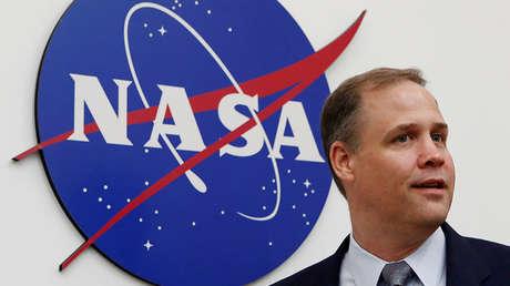 El administrador de la NASA, JimBridenstine, tras una conferencia en la embajada estadounidense en Moscú, Rusia, el 12 de octubre de 2018.