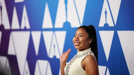Yalitza Aparicio en un almuerzo ofrecido a los nominados al Óscar en Beverly Hills, California.