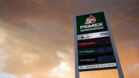 Una estación de gasolina de Pemex en la ciudad mexicana de Monterrey.