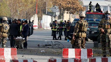 Sitio de una explosión en Kabul, Afganistán, el 12 de noviembre de 2018.