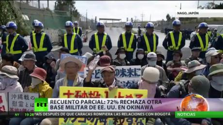 Recuento parcial en Okinawa: El 72% de los residentes locales rechaza la reubicación de una base militar estadounidense