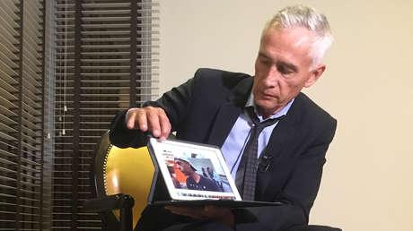El periodista Jorge Ramos de Univision, durante una entrevista en un hotel de Caracas, el 25 de febrero de 2019