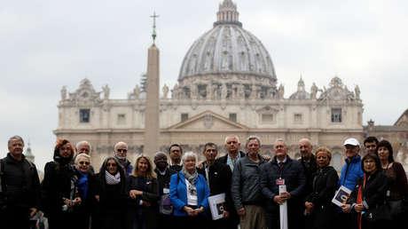 Miembros de la asociación Ending Clergy Abuse y víctimas de abusos sexuales, Vaticano, 18 de febrero de 2019.