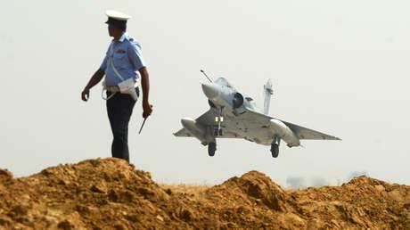 Un caza Mirage 2000 de la Fuerza Aérea india.