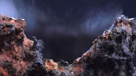 Imagen ilustrativa de un respiradero hidrotermal