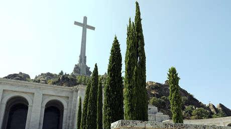 Vista parcial del Valle de los Caídos, cerca de Madrid (España), tomada el 31 de agosto de 2018.
