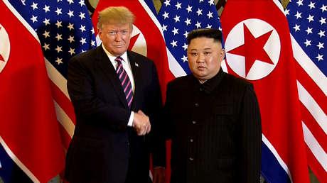 Kim Jong-un y Donald Trump en la capital vietnamita, Hanói, el 27 de febrero de 2019