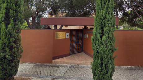 Vista exterior de la Embajada de Corea del Norte en Madrid.