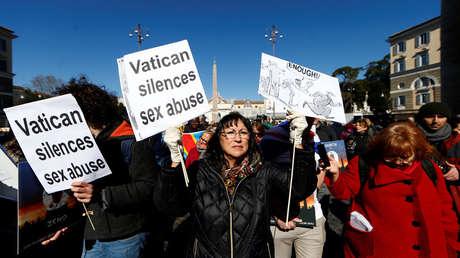 Marcha por la Tolerancia Cero en Roma durante la 'cumbre antipederastia' en el Vaticano, 23 de febrero de 2019.