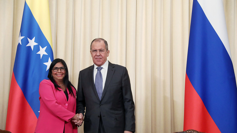 VIDEO: La vicepresidenta venezolana Rodríguez y el canciller ruso Lavrov se reúnen en Moscú