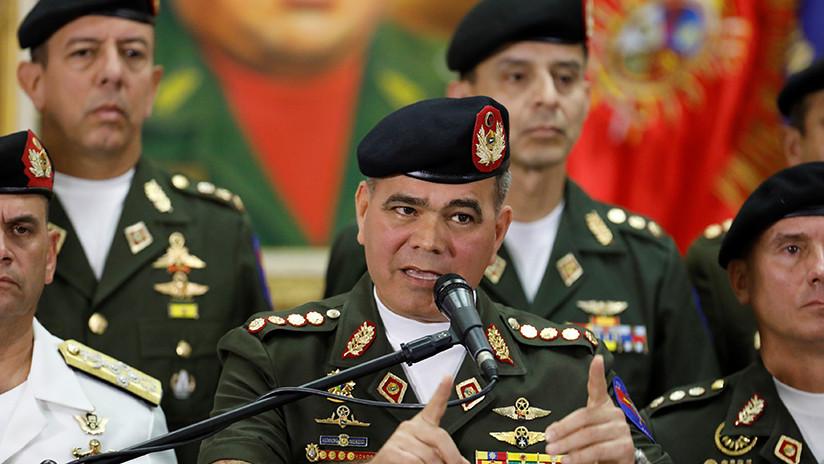 """Ministro de Defensa de Venezuela ordena enviar a EE.UU. la nómina militar """"para facilitar la tarea de sancionar"""""""