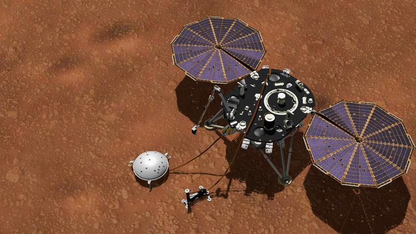 La sonda InSight de la NASA comienza a excavar en Marte, pero se topa con algo