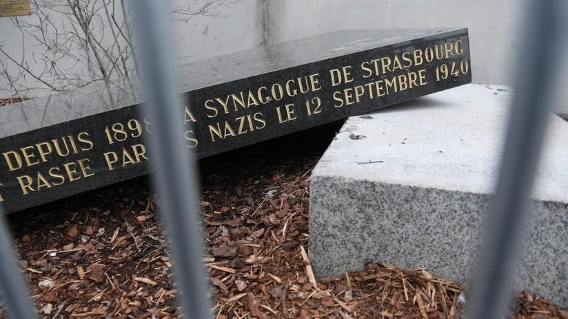 Vandalizan una estela conmemorativa de una sinagoga destruida por los nazis en Francia