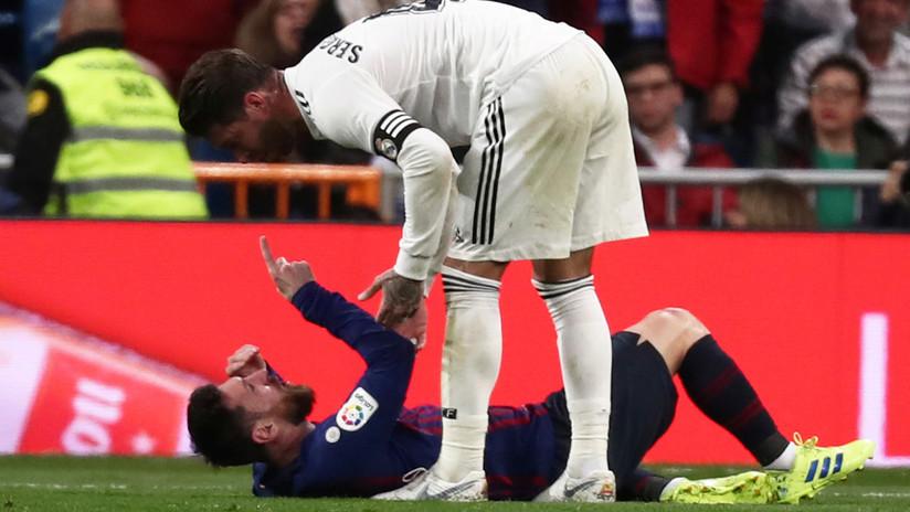 """""""Tenía sangre en el labio"""": Nueva polémica alrededor de Ramos tras su reciente enfrentamiento con Messi (VIDEOS)"""