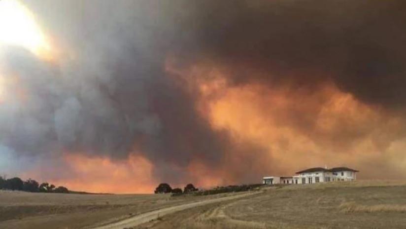 VIDEO: Un gran incendio forestal destruye una localidad de Australia